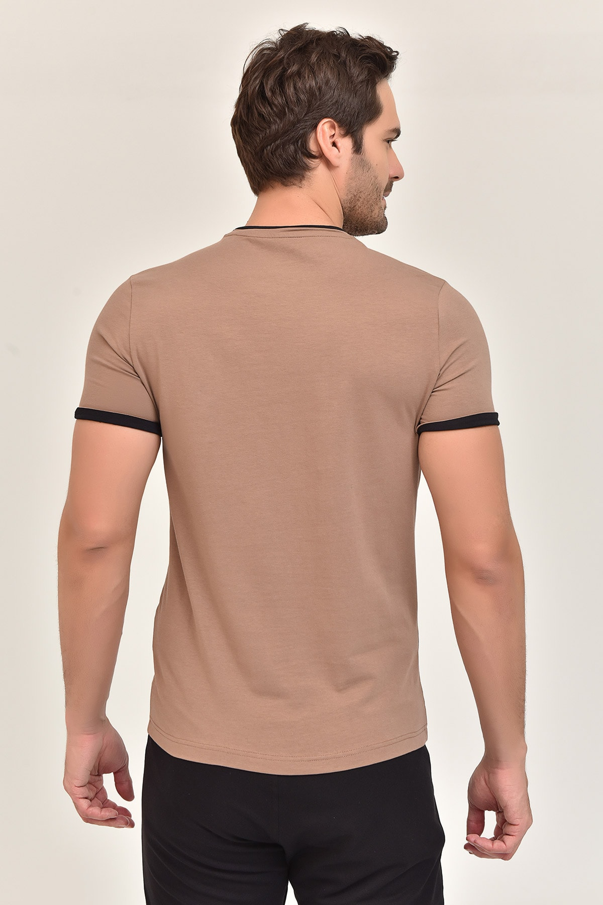 bilcee Kahverengi Pamuklu Erkek T-Shirt ES-2374 2