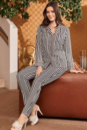Lohusa Sepeti Indiralong Önden Düğmeli Pijama Takımı 5256