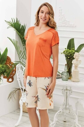 Lohusa Sepeti Orange Şort Takımı 20537