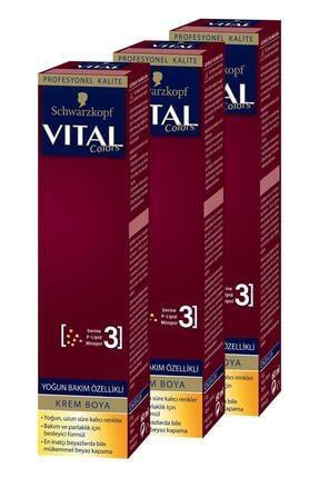 Vital Colors Krem Saç Boyası 1-00 Siyah X 3 Adet