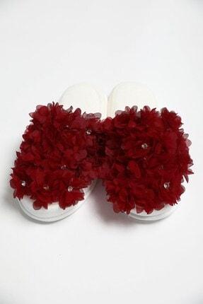 Lohusa Sepeti Kırmızı Dense Flower Lohusa Terliği