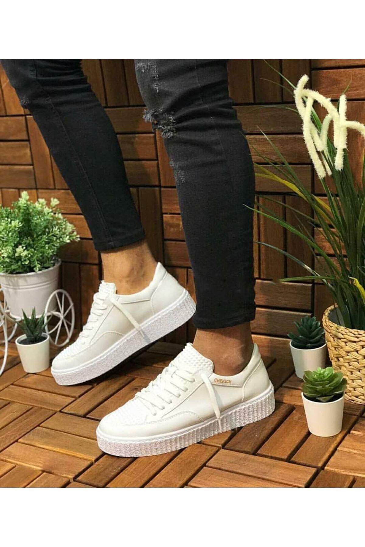 Chekich Bt Erkek Ayakkabı Beyaz Ch017 2