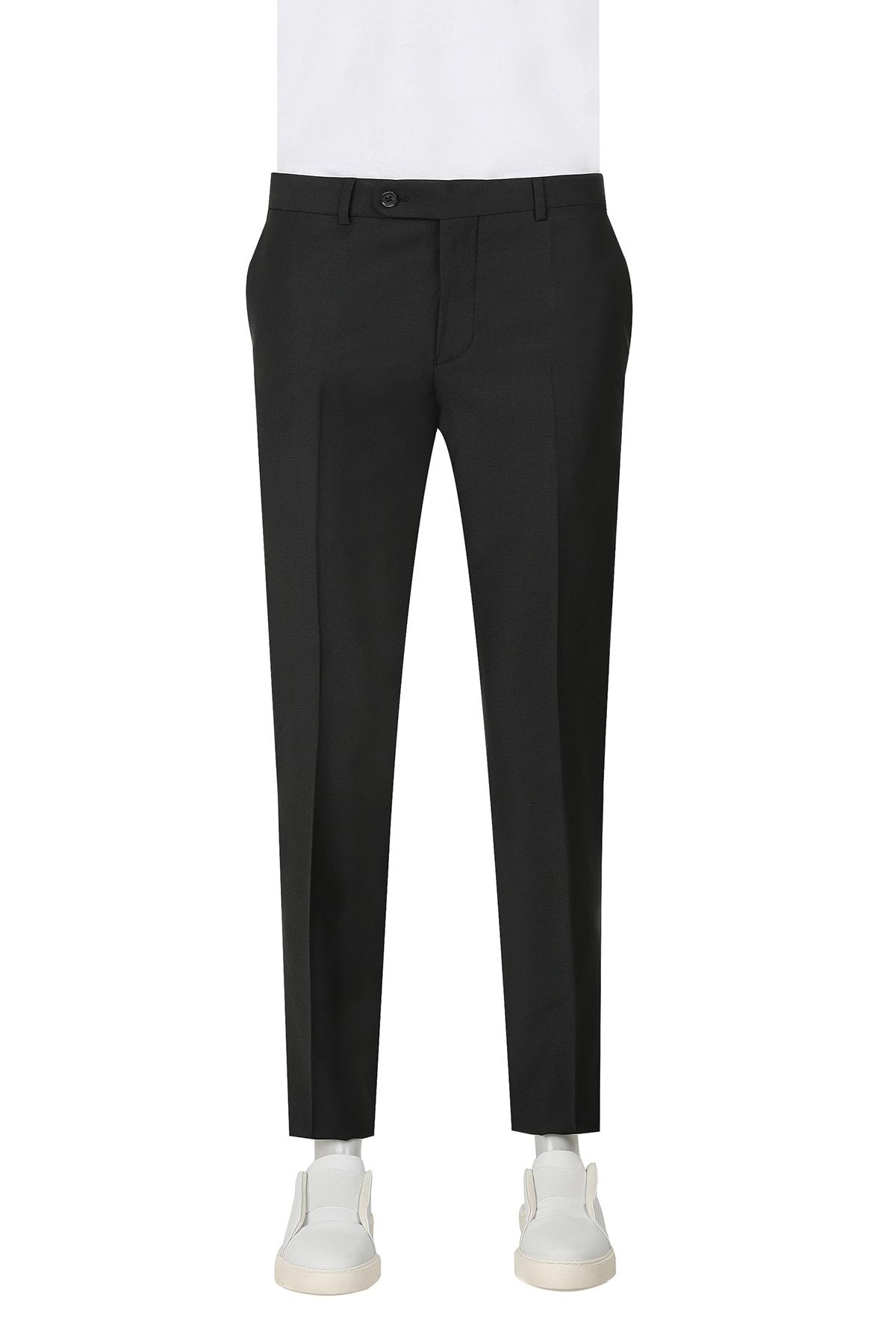 D'S Damat Siyah Renk Erkek  Pantolon (Slim Fit) 1
