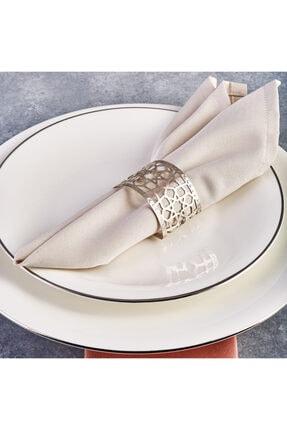 Karaca Selçuklu Büyük 6lı Peçete Yüzüğü Set Gümüş