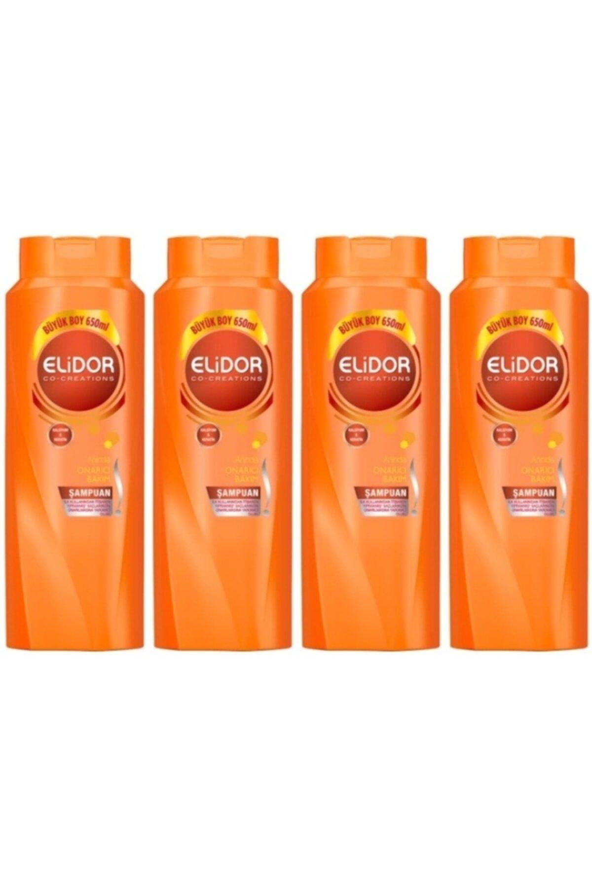 Elidor Anında Onarıcı Bakım Saç Bakım Şampuanı 650 ml 4 Adet 1