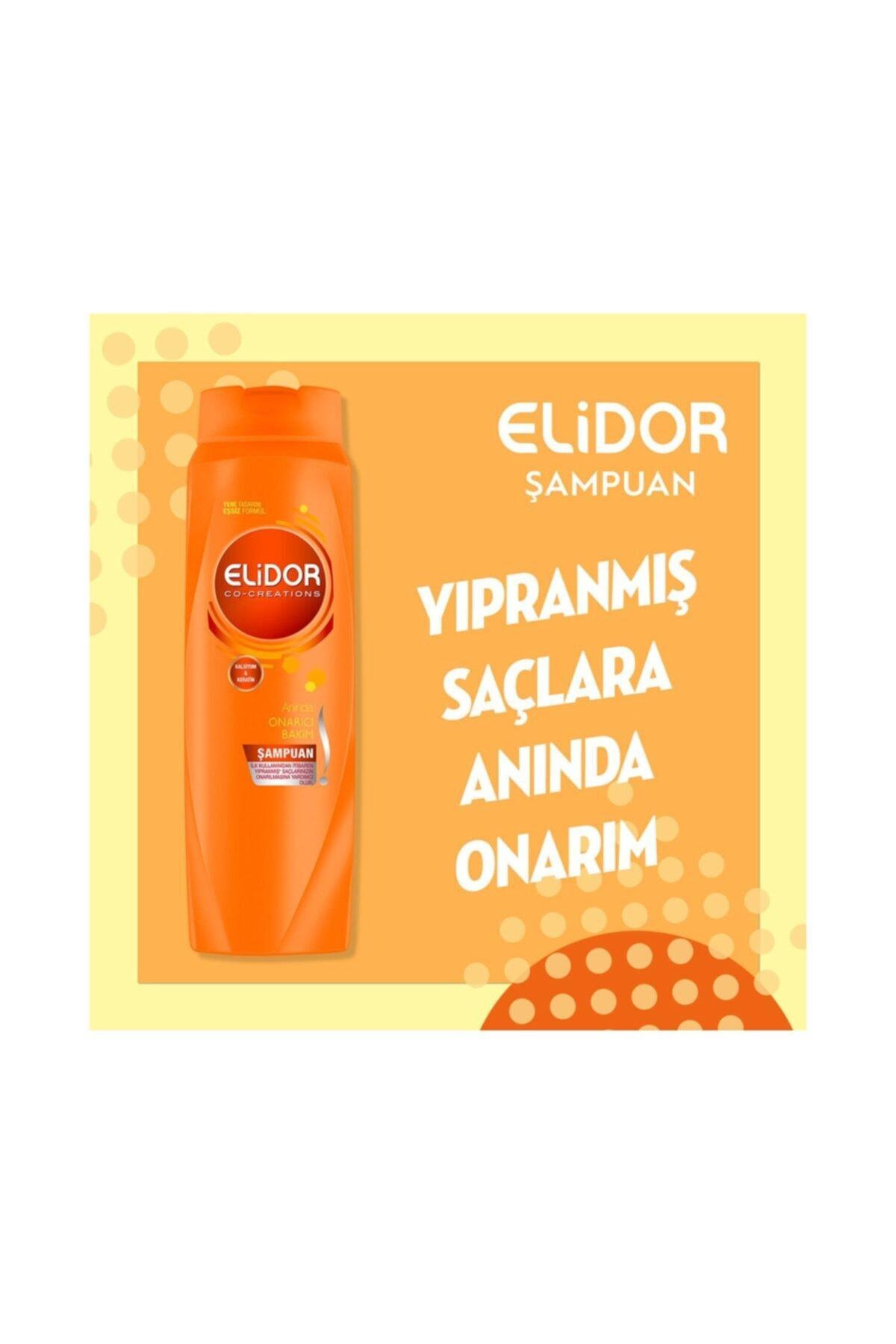 Elidor Anında Onarıcı Bakım Saç Bakım Şampuanı 650 ml 4 Adet 2