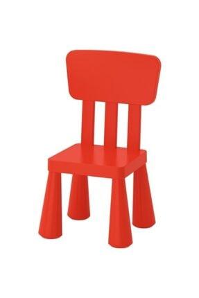 BARBUN Mammut Kırmızı Plastik Lkea Çocuk Sandalyesi