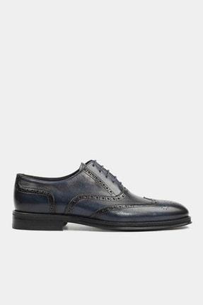 Hotiç Hakiki Deri Lacivert Erkek Klasik Ayakkabı
