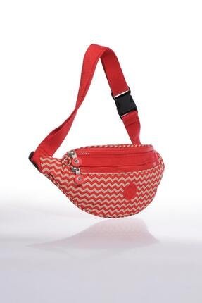 SMART BAGS Kırmızı/Bej Kadın  Bel Çantası Smb3030