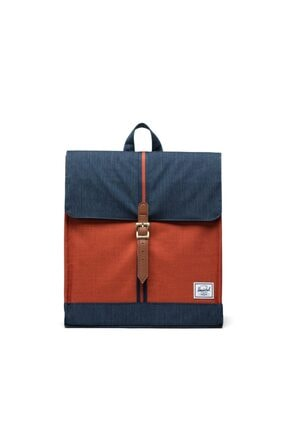 Herschel Supply Co. City Mid-volume Indigo Denim/picante Crosshatch/tan Sırt Çantası