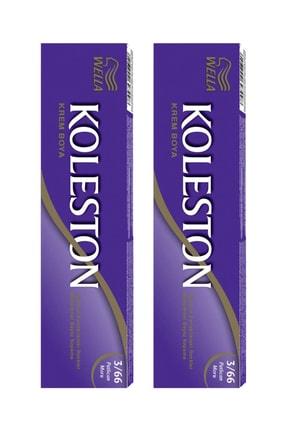 Wella 2'li Koleston Tüp Patlıcan Moru 3/66 Saç Boyası