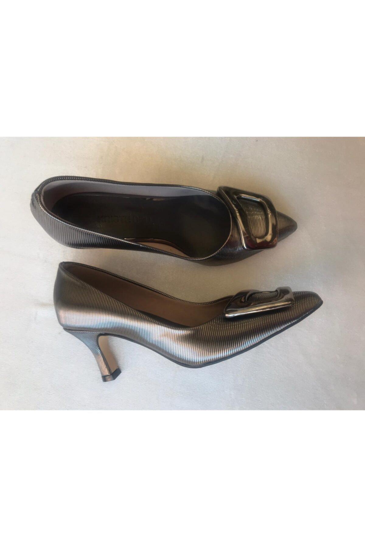 KRISTE BELL Gri Topuklu Kadın Ayakkabı 2