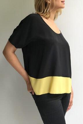 Ebru Günay Dokuma Bicolor Bluz