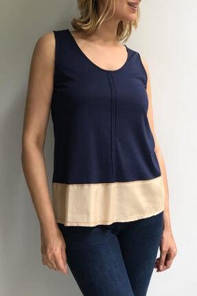 Ebru Günay Blok Örme Bluz