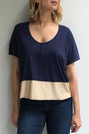 Ebru Günay Kadın Blok Örme Bluz