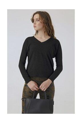 Jument Düşük Omuzlu Uzun Kol Elbise -Siyah