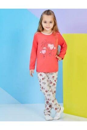 ROLY POLY Kız Çocuk Pijama Takımı Nar Çiçeği