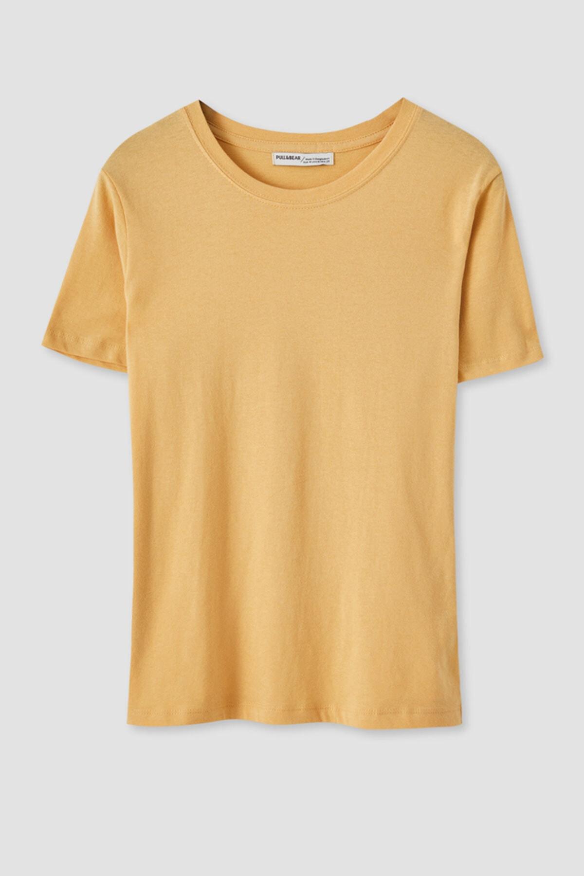 Pull & Bear Kadın Kısa Kollu Basic T-Shirt 05244357 1