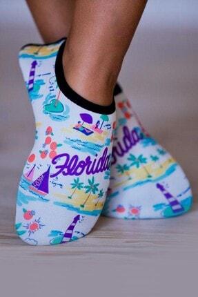 walkie Florida Beyaz Turkuaz Plaj/deniz Ayakkabısı