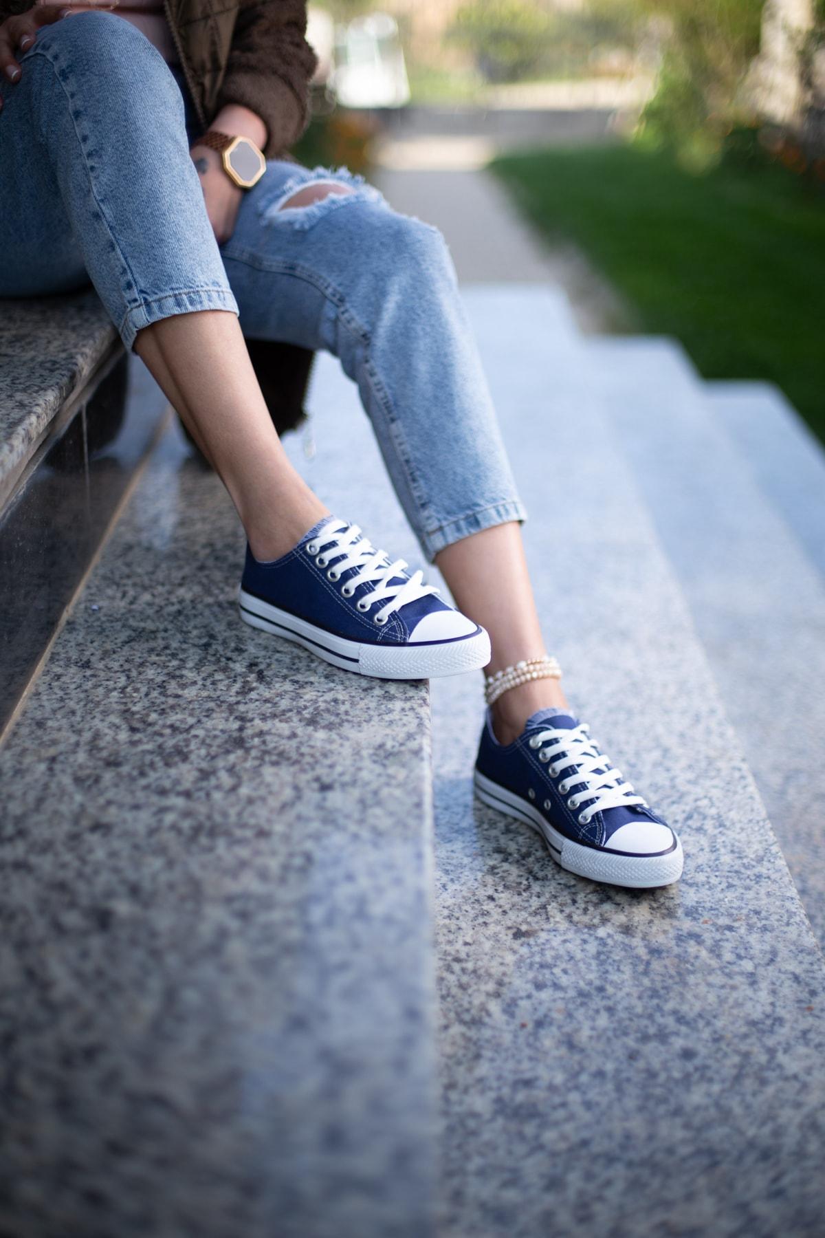 ESPARDİLE Lacivert Kadın Spor Ayakkabı 1
