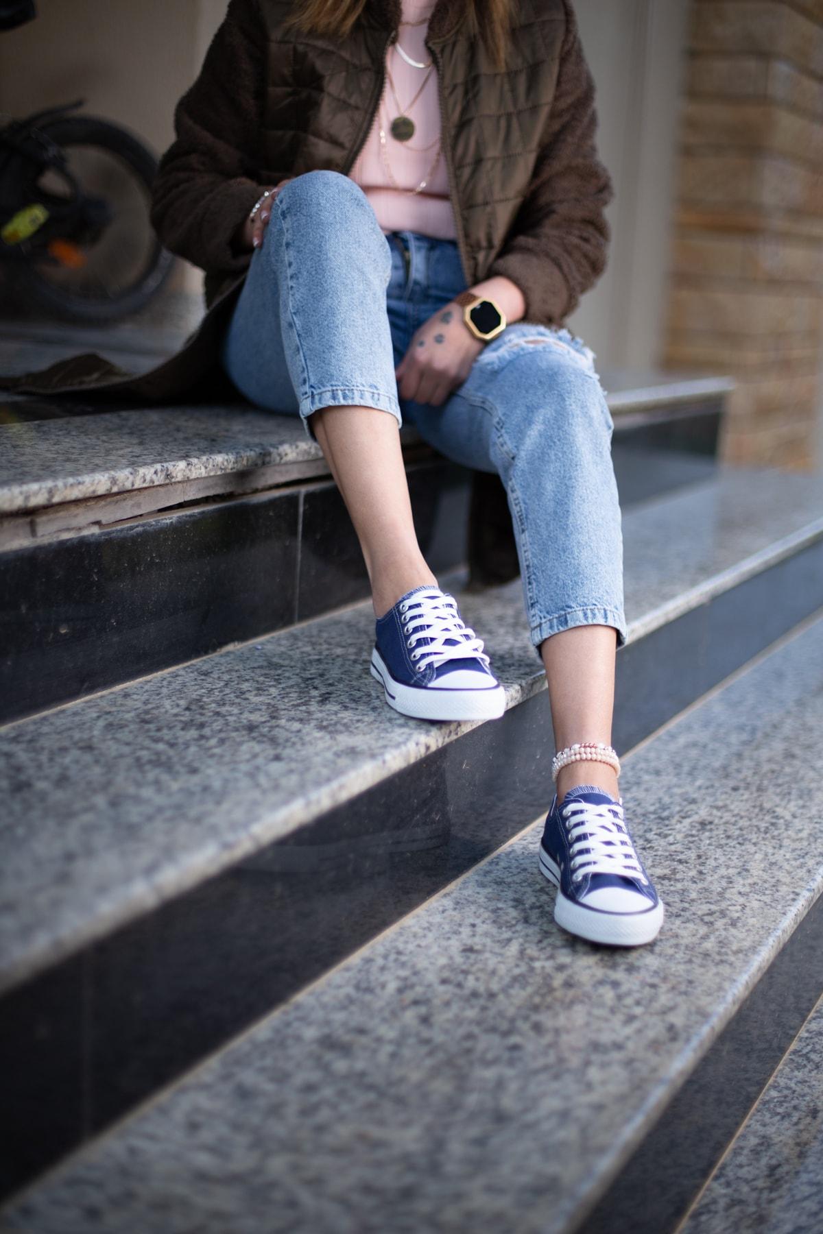 ESPARDİLE Lacivert Kadın Spor Ayakkabı 2