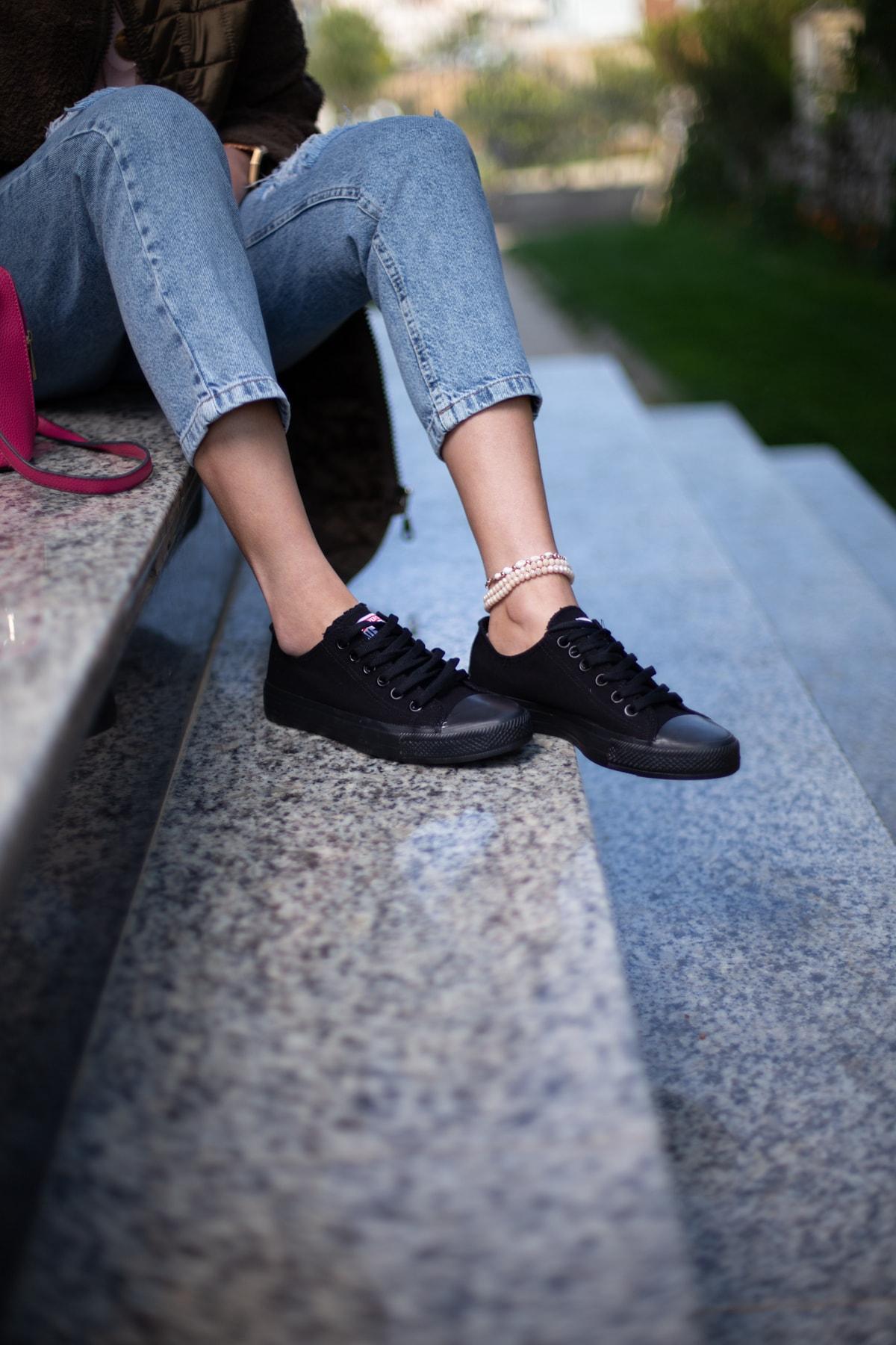 ESPARDİLE Siyah Kadın Spor Ayakkabı 1