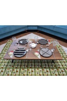 TRENDKUŞAK Ahşap Yer Sofrası-hamur Açma Masası 60x90 cm Ceviz