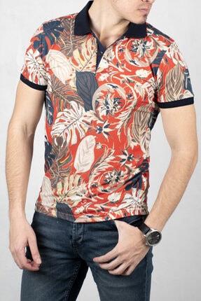 DeepSEA Orange Polo Yaka Kısa Kol T-Shirt 2000105