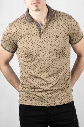 DeepSEA Bej Polo Yaka Kısa Kol T-Shirt 2000125