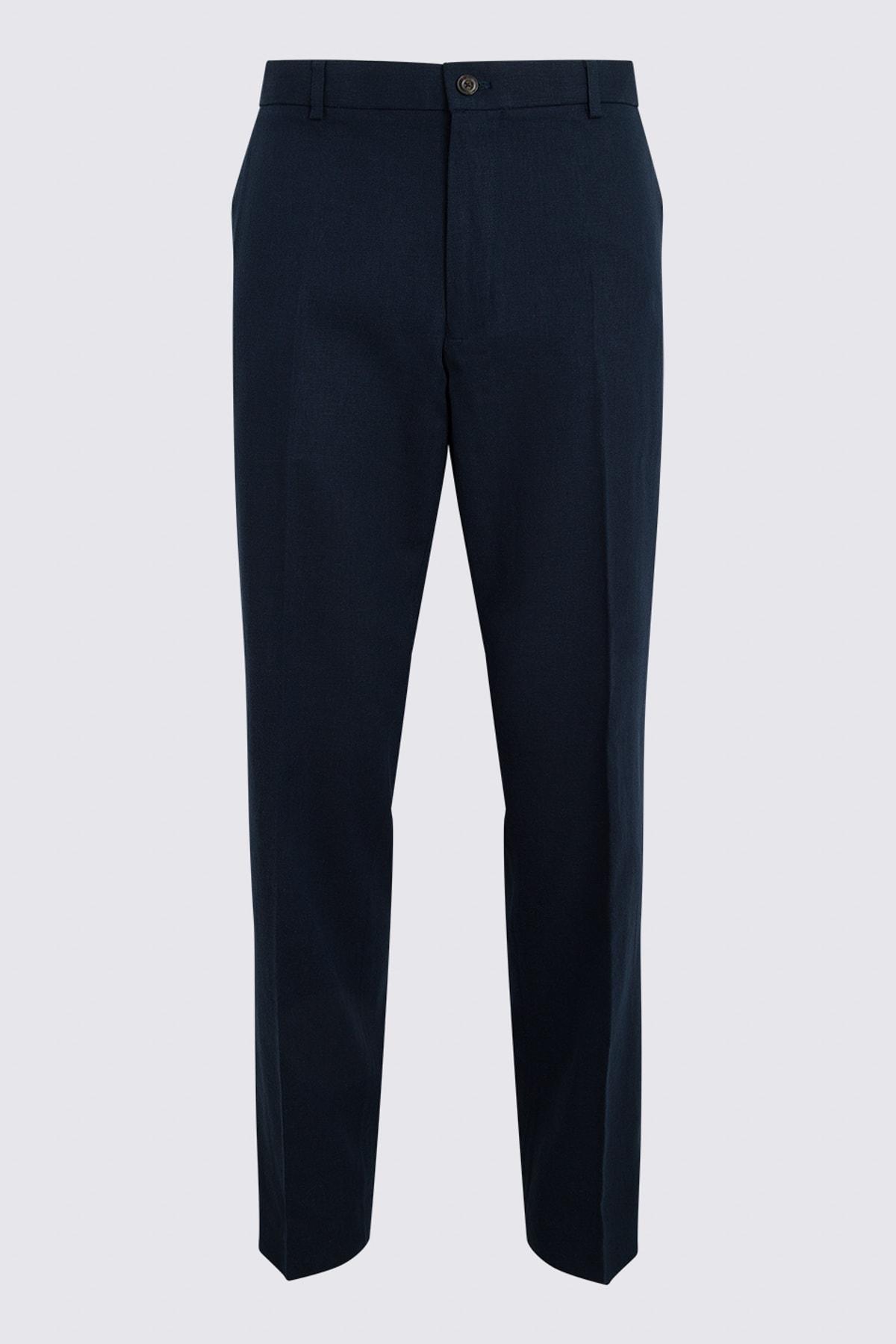 Marks & Spencer Erkek Lacivert Keten Pantolon T15005162I 1