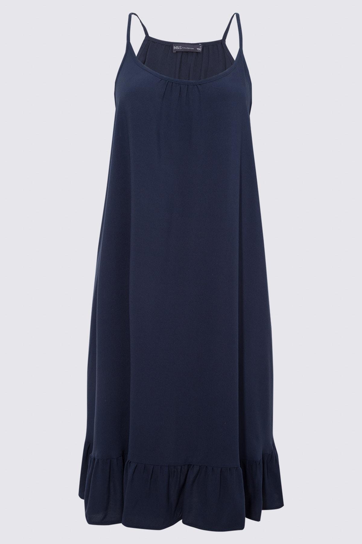 Marks & Spencer Kadın Lacivert Askılı Plaj Elbisesi T52008543 1