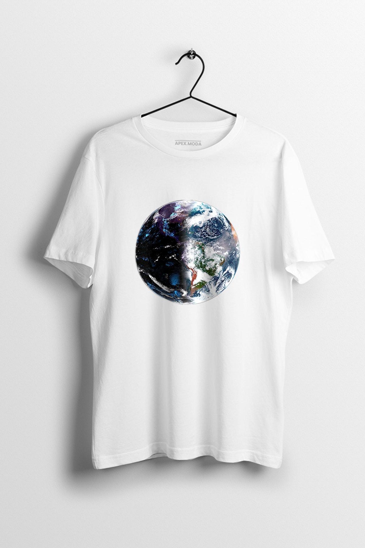 WePOD World Hd Beyaz Baskılı Tişört 1