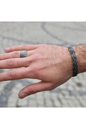 Zuk Collection Saf Gümüş Kazaziye Bileklik Ve Yüzük Set