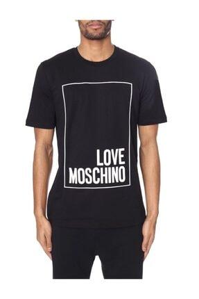 Love Moschino Sıfır Yaka Beyaz Erkek T-shirt