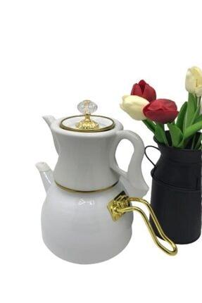Dufy Verda Emaye Porselen Çaydanlık 2,3 litre Beyaz