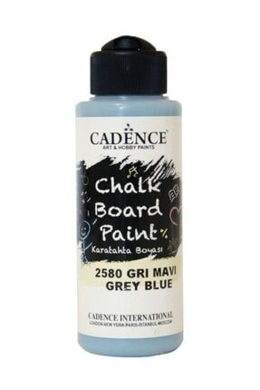 Cadence Chalkboard Paint 120ml Kara Tahta Boyası 2580 Gri Mavi