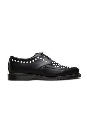 Dr. Martens Willis Monk Strap Creeper Siyah Deri Kadın Ayakkabı 23479001 Siyah
