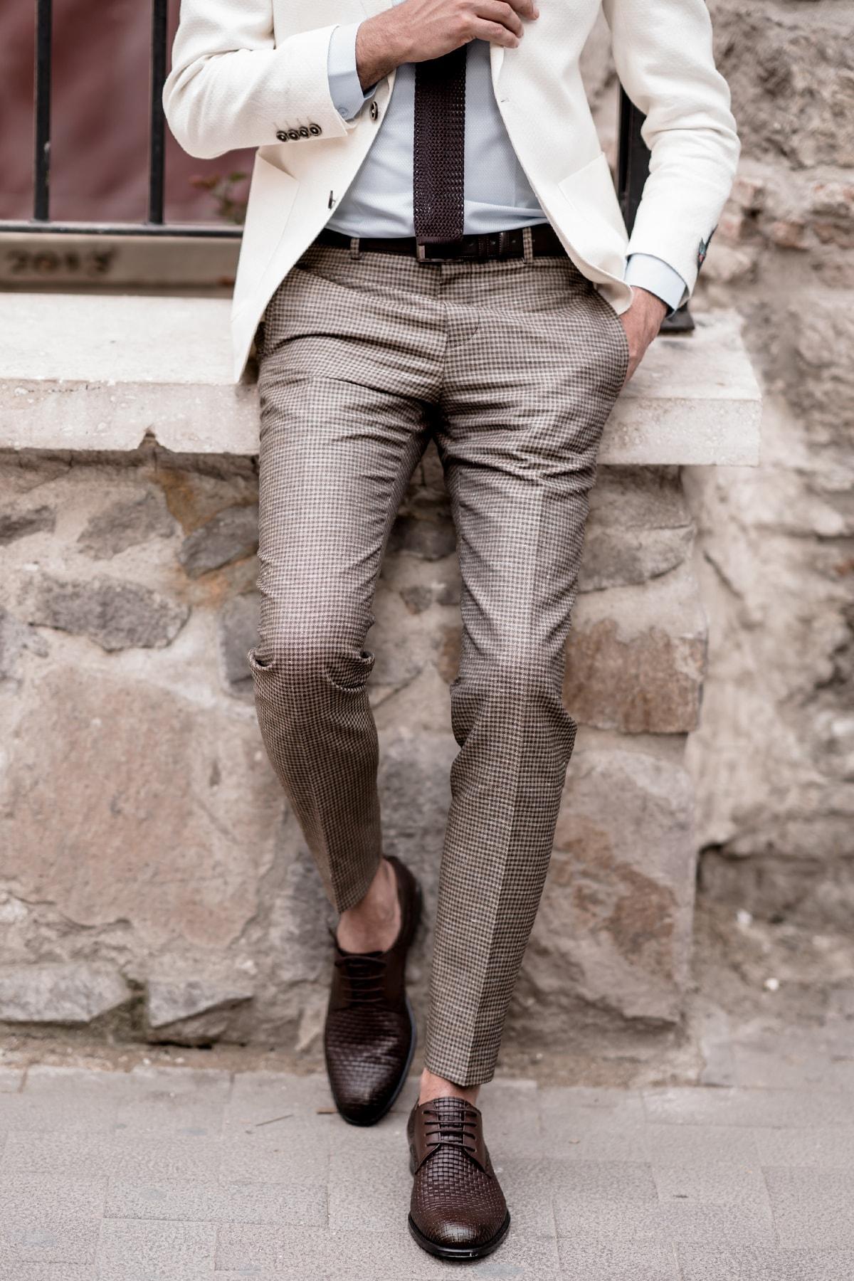 Sır Erkek Kareli Pantolon 2