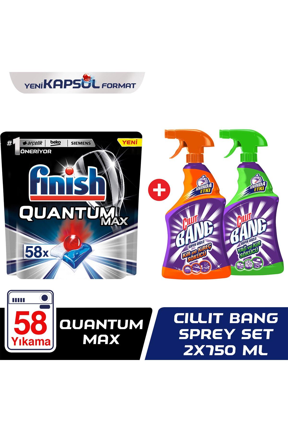 Finish Quantum Max 58 + Cillit Bang Sprey Set 1