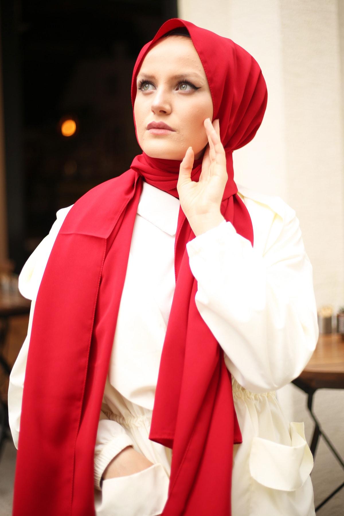 Stella Medine Ipeği Şal Kırmızı 2