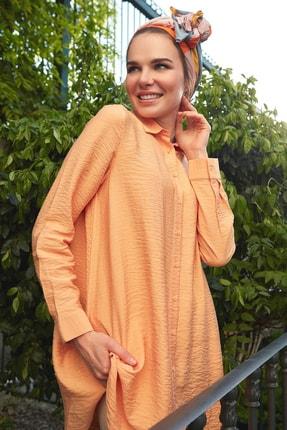 DeFacto Kadın Modest Turuncu Düğme Detaylı Dokuma Tunik N0716Az.20Sm.Og207