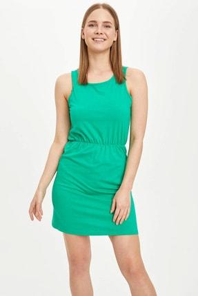 DeFacto Kadın Yeşil Örme Elbise N7156AZ.20SM.GN689