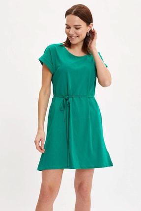 DeFacto Belden Bağlama Detaylı Örme Yazlık Elbise