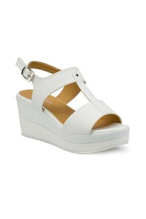 Polaris 315311.Z Beyaz Kadın Sandalet 100507453