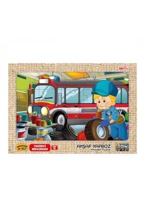 Wooden Toys Tamirci Temalı Ahşap 3mm Mdf Puzzle 20 Parça  20 Cm * 30 Cm