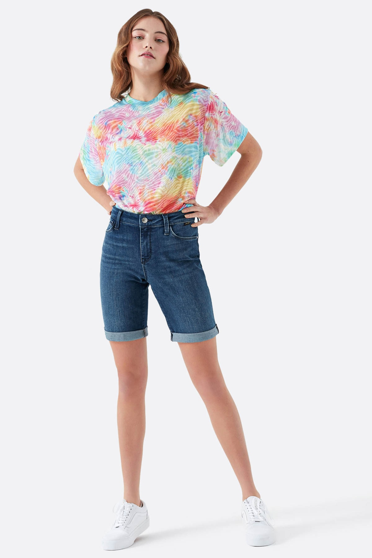 Mavi Kadın Alexis Gold Lux Move Jean Şort 1441528584 2