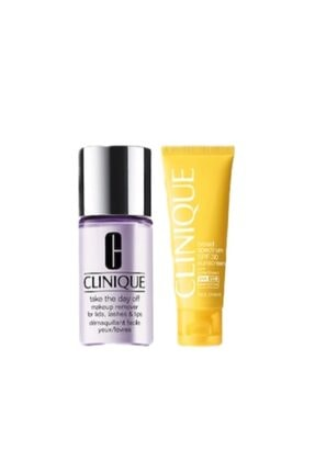 Clinique Tane The Day Off Makeup Remover Makyaj Temizleyicisi 30 Ml + Wrinkle Face Spf 30 Cream Güneş