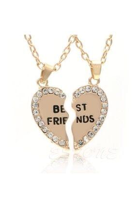 Jwl Bff Best Friend Kalpli Taşlı Kolye En Iyi Arkadaş Kalp Yap Boz 2li Kolye