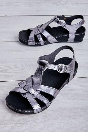 Bambi Gri Kadın Sandalet L05176062