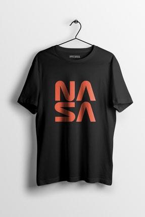 Apex Moda Nasa Square Siyah Baskılı Tişört